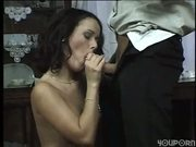 guy fucks hot girl in quaint dining room