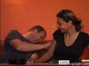 Guy bangs chick with shaved puss