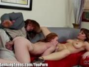 Alex Tanner Double Teamed by Horny Neighbors