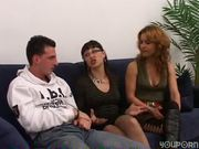 Italian girl watches them fuck - OVER C