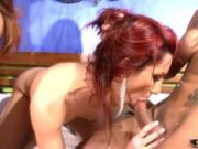 Cum hungry chicks with dicks have hot anal hardcore foursome