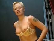Cute shorthaired blonde chick gets nailed - Venality Productions