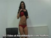 Kerry Louise gives a harsh handjob