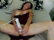 Lauren plugs in a huge vibrator