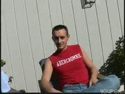 Blonde Czech sucks and fucks in the backyard