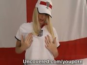 Young England Fan Amy Uncovered