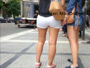 Candid: Young girls-hot tight shorts