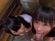 tiny japanese schoolgirl JK eating ice cream