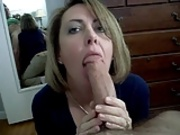 Sexy Blonde Milf BJ and Swallow
