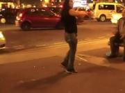 Slut Strips Off In The Street & Gives Everyone A Free Show