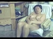 Caught my mom totally nude in living room and masturbating