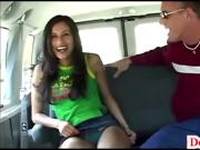 Donny Long ruins teen pussy in back of van and gives sneaky