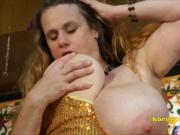 Kore Goddess Huge breasted Gold Plated slut