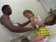 young lass tests out her new bbc: blk