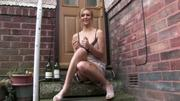 Voyeur 10 upskirt girl sitting at doorstep (MrNo)