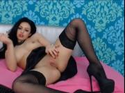 Girl rubs her Pussy in Private Cam Show S967