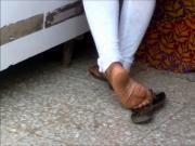 Candid indian shoeplay 2