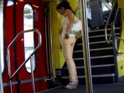 Candid - Hot Babe In Tight Jeans And Shirt