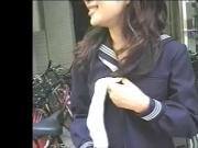 Japanese High school girl outdoor exposure
