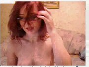redhair teen play with oil