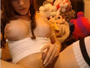 Solo TS masturbating at webcam