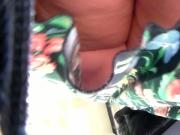 upskirt bbw floral skirt at work