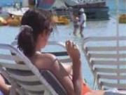 Horny tits - beach voyeur