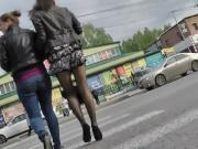 stockings under the skirt. Russia, Krasnodar