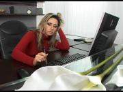 Daria Glower bored secretary