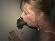 Married whore sucks black at the gloryhole