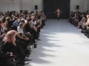 sexy nude in public catwalk model fashion show