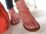 friends feet candid