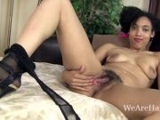 Tori Chic takes off leather dress and strips naked