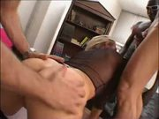 Italian blonde hard anal fuck with 3 guys JJ