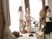 Hidden camera shoots at casting models.