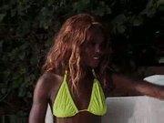 Skinny Black Babe ...F70