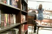 Trina Upskirt at Bookstore