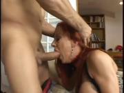 Hot Redhead Gets Throat Fucked And Eats Jizz