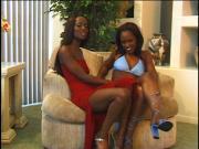 Bisexual ebony hotties in action