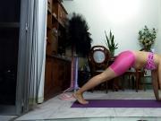 Exercises in short sexi en licra
