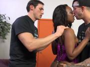 White boys buttfucking beautiful ebony babe Skyler Nicole