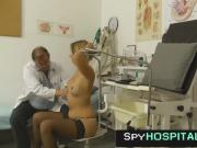 Hot legs blonde tits exam at hospital leaked voyeur video