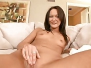 Small tits getting fucked with nice cum shot. IWIT