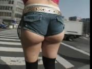 japanese tall girl public walkimg