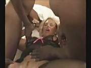 Blonde Slut Wife Gets Gangbanged by BBCs.elN
