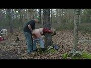 Abusing my girlfriend in wood !