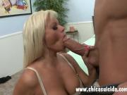 MILF blonde Nikita loves a mouth full of huge cock