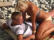 Blond with great tan lines