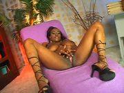Big Ebony Tits Sucks White Dick