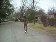 Black girl nude in public